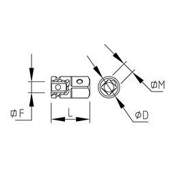 """AMPLIFICATOR IMPACT 1/2""""-3/4"""" Mob&Ius 9292340501"""