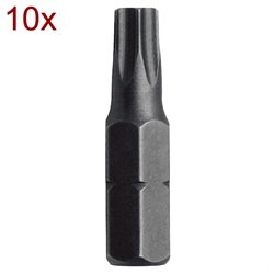 "SET 10 BITURI 1/4"" TAMPER TORX TTX 10X25 Mob&Ius 919G101401"
