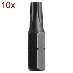 "SET 10 BITURI 1/4"" TORX TX 25X25 Mob&Ius 919D251401"